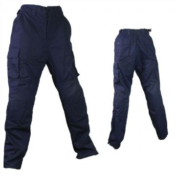Qtech Race Motorcycle Motorbike Cargo Pants Jeans with Knee & Hip Armour - Blue